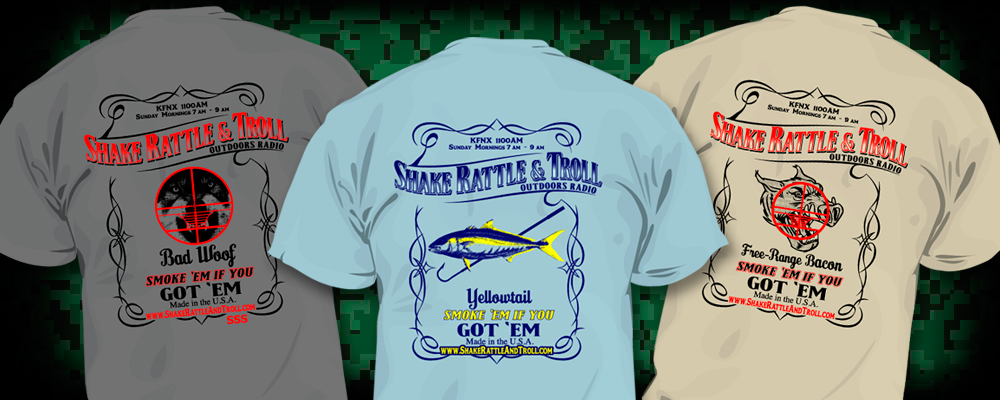 Apparel line for Shake Rattle and Troll Outdoors Radio